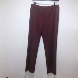 LAFAYETTE 148 BURGUNDY RED TROUSERS PANTS 6